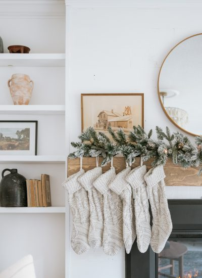 Mixing Styles for a Perfectly Styled Christmas Mantle