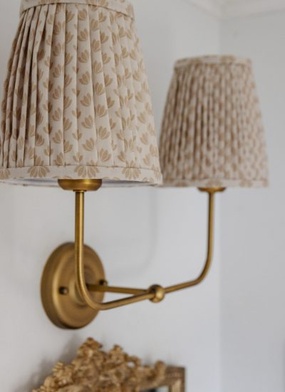 DIY Pleated Lampshades