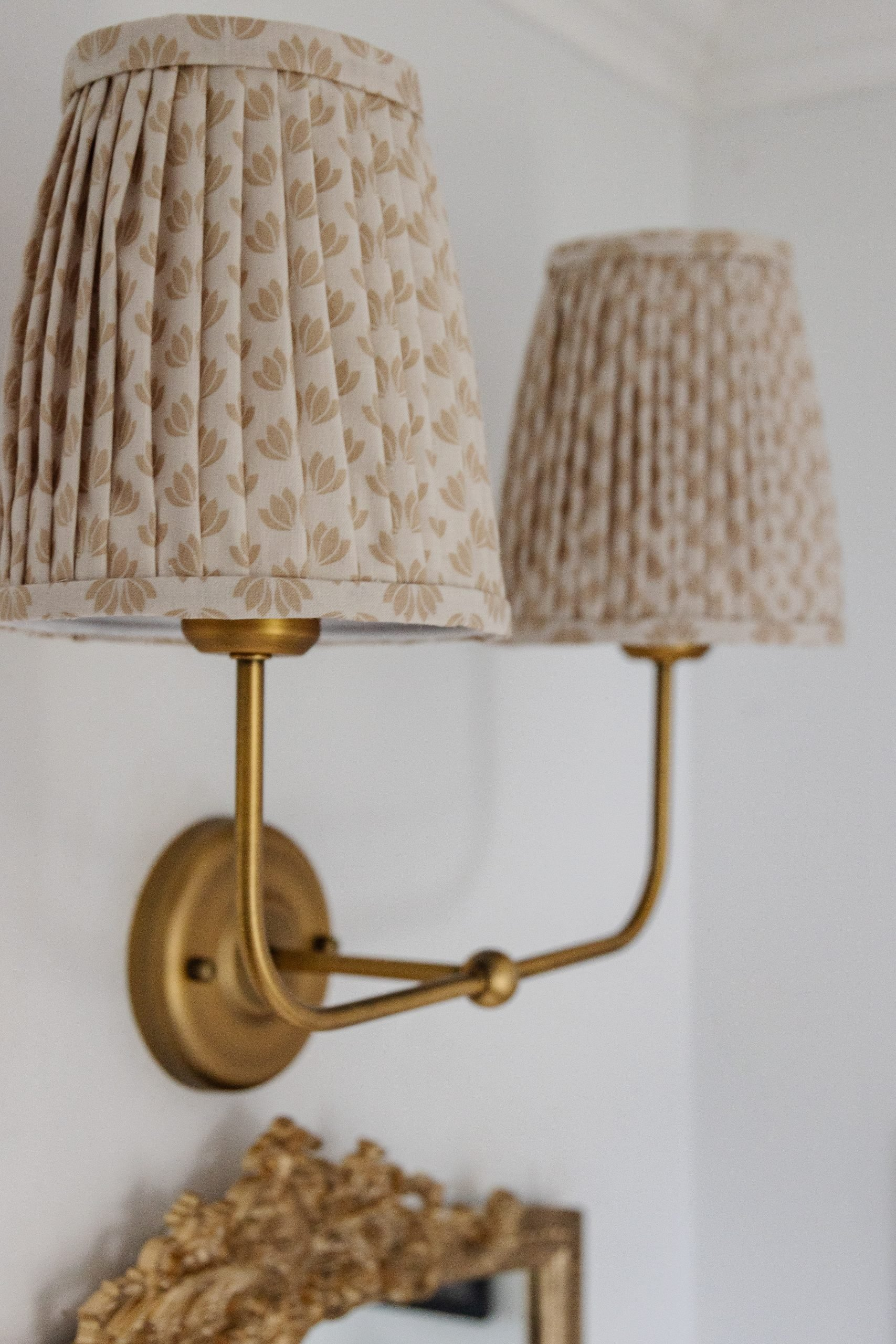 DIY Pleated Lampshades. How To Take a boring lampshade to the next level with this easy no sew tutorial.