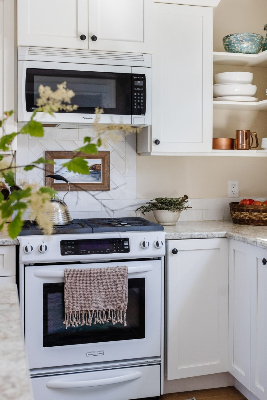 A Kitchen Refresh. How I restyled my moms white contemporary kitchen to a coastal rustic oasis